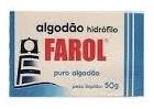 Algodão Farol Hidrófilo Caixinha 50 g c/ 10 un