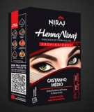 Henna Sobrancelha Niraj Castanho Medio
